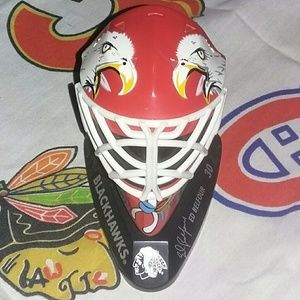 1998 Chicago Blackhawks Ed Belfor Goalie Mask NHL